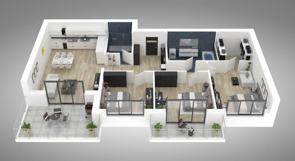 3D-Grundriss-Erstellung Ihrer Immobilie