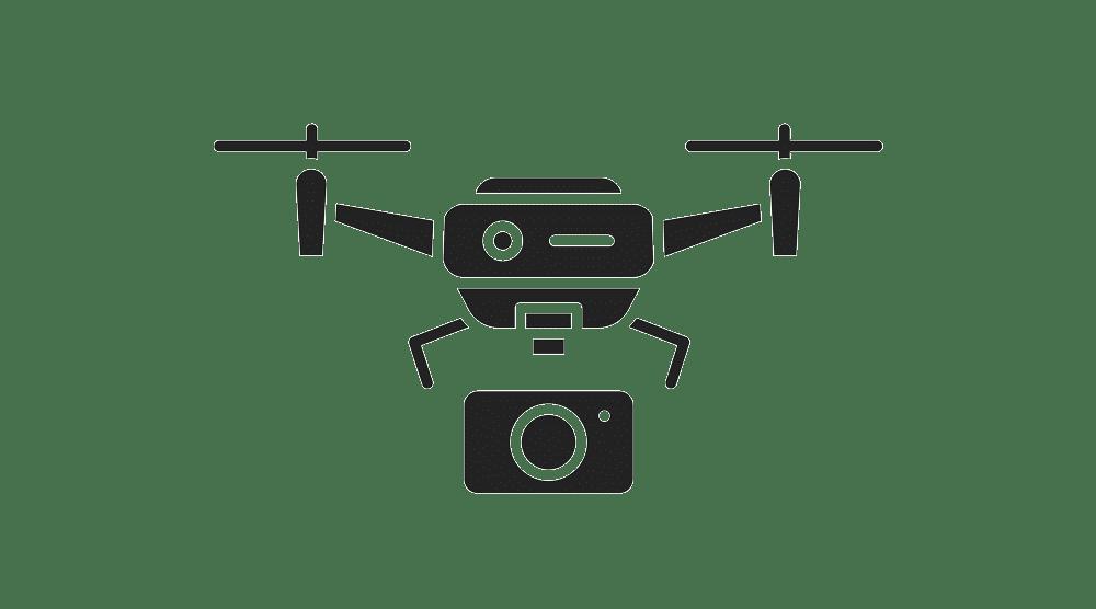 Luftaufnahme mit Drohne Ihrer Immobilie